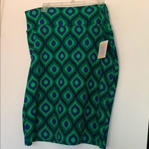 Green and blue Cassie skirt
